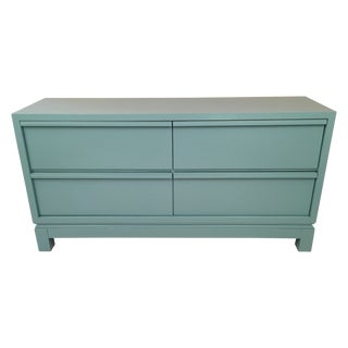 Lacquered Turquoise Dresser