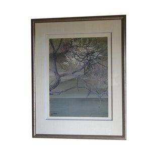 "Yu Achee ""Zen Landscape"" Mixed Media Painting"