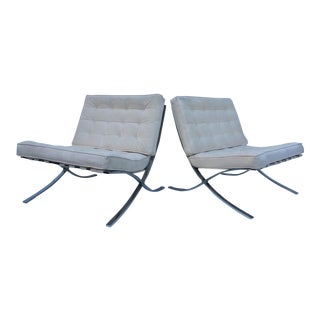 Vintage Barcelona Style Lounge Chairs - A Pair