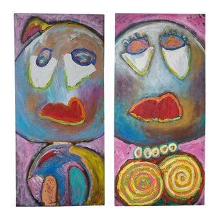 'Mr. & Mrs. Big' Paintings - A Pair