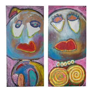 'Mr. & Mrs. Big' Paintings - A Pair
