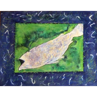 """Fish"" Mixed Media Collage by Rosalind Mesquita"