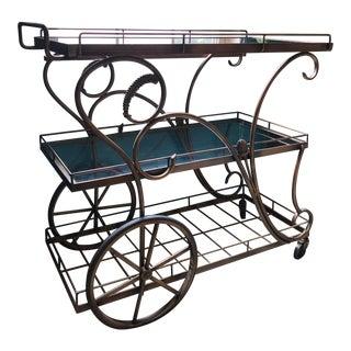 Antique Brass Serving Cart