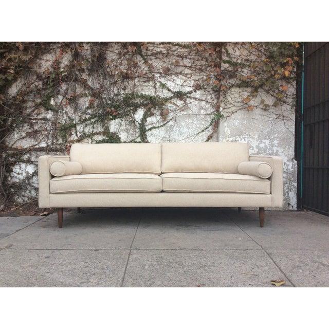 Cream Mid-Century Sofa - Image 2 of 5