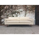 Image of Cream Mid-Century Sofa