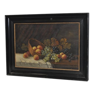 Early 20th Century Fruit Still Life Oil Painting