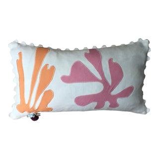 Seaweed Applique Throw Pillow