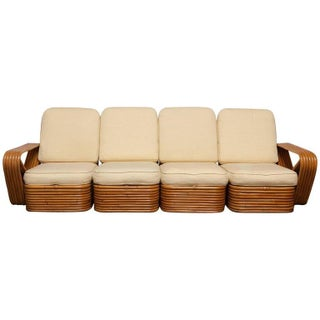 Paul Frankl Rattan Pretzel Sectional