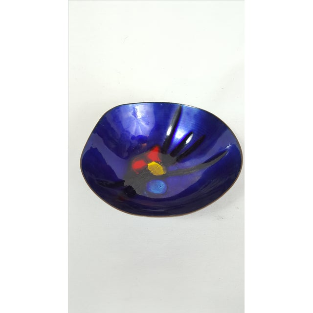 Cobalt Enamel and Copper 'Lovecup' - Image 3 of 3