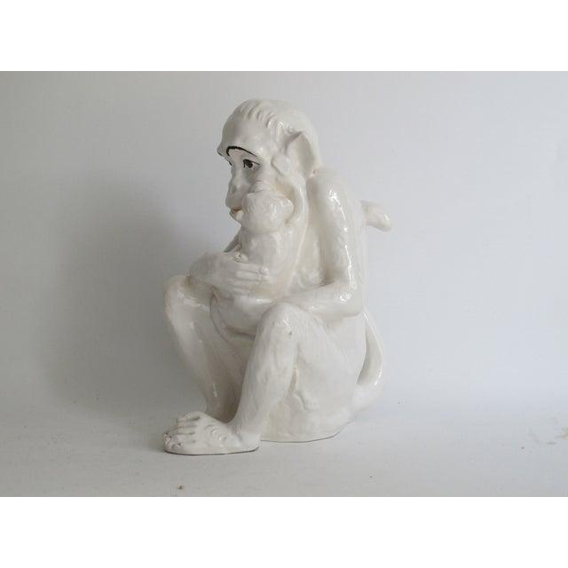Italian Ceramic Monkey with Baby - Image 4 of 8