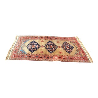 Antique Persian Kurdish Bijar Rug - 4″ × 8″