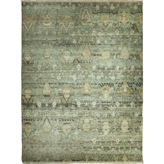 "Transitional Hand-Knotted Luxury Rug - 8'11"" x 12'"