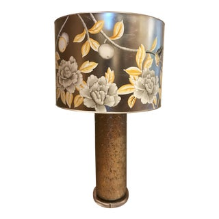 Lattice Glass Table Lamp With Painted Shade