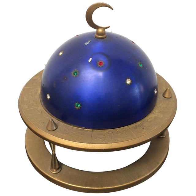 Blue Zodiac Globe Pop-Up Cigarette Holder - Image 1 of 8