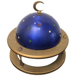 Blue Zodiac Globe Pop-Up Cigarette Holder
