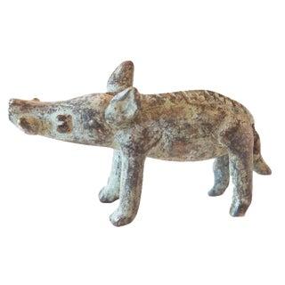 Vintage African Bronze Casting of Boar