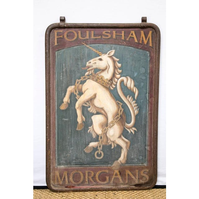 "English Pub Sign ""Foulsham Morgans"" - Image 3 of 5"