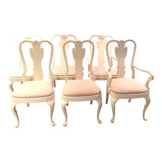 White Wood Dining Chairs - Set of 6
