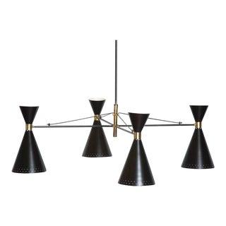 Stilnovo Style Double Cone Chandelier
