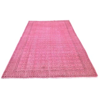 Pink Over-Dyed Rug - 6′4″ × 10′4″