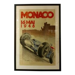 Monaco 16 Mai 1948 Original Grand Prix Racing Poster