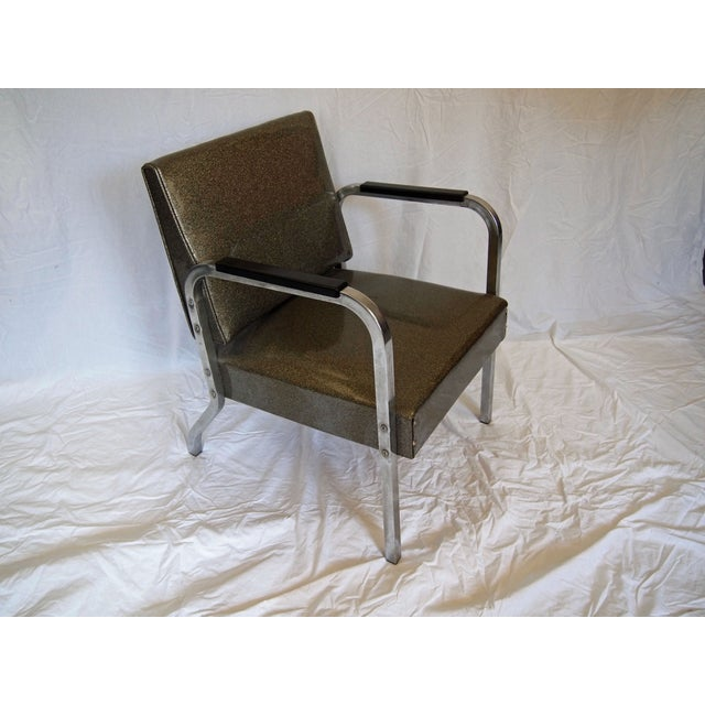 Chrome Chairs With Vinyl Seats - Pair - Image 3 of 5