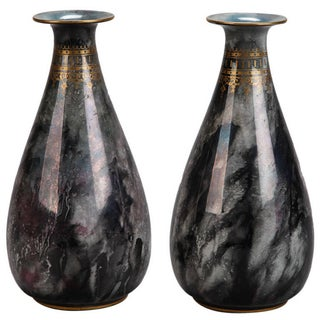 Art Deco Pair of Losol Ware Keeling and Co. Vases