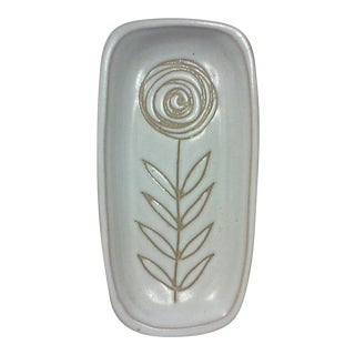 Martz Incised Flower Rectangular Dish