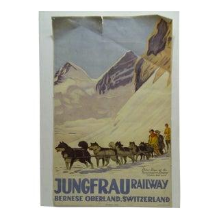 Vintage Switzerland Jungfrau Railway Poster