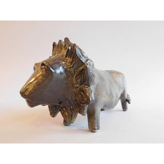 Bennington Potters Stoneware Bank Lion Figure - Image 5 of 11