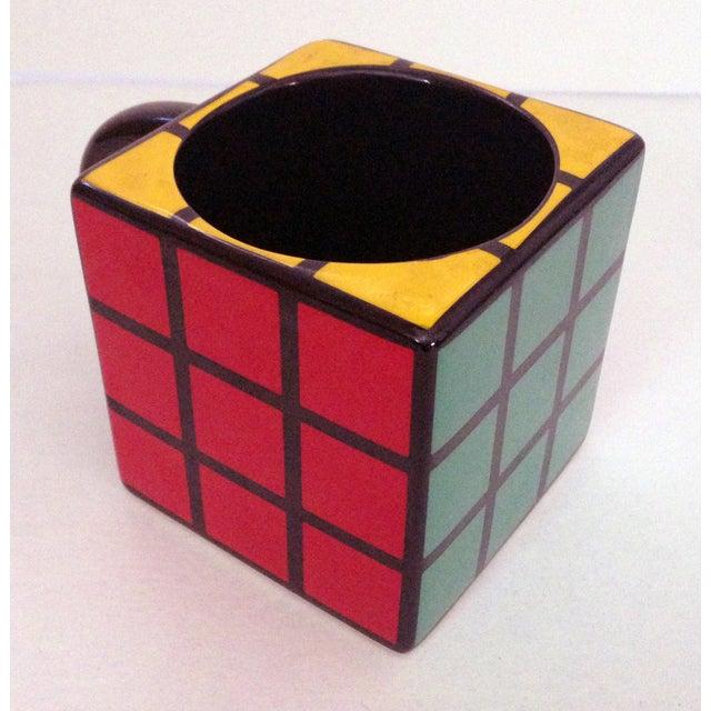 Spinning Retro Rubik's Cube Ceramic Mug - Image 3 of 7