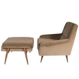 Customizable Johansson Lounge Chair and Ottoman