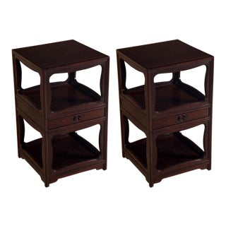 "Michael Taylor for Baker Tall ""Far East"" Nightstands - a Pair"