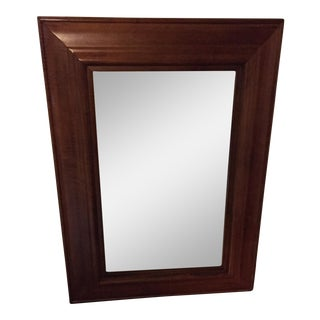 Thick Wood Beveled Glass Mirror