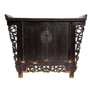 Butterfly Chest with Carved Wings and Original Patina