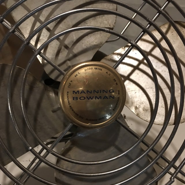 Image of Vintage Manning Bowman Electric Table Fan
