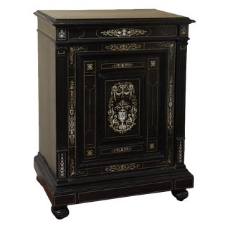 Ebony and Ivory Inlaid Italian Cabinet