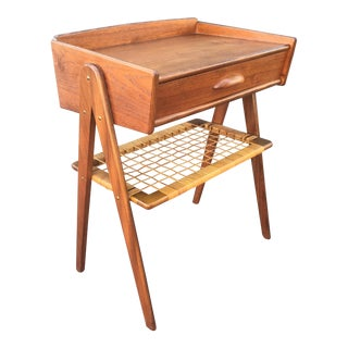 Vintage Danish Mid Century Modern Teak Accent Table