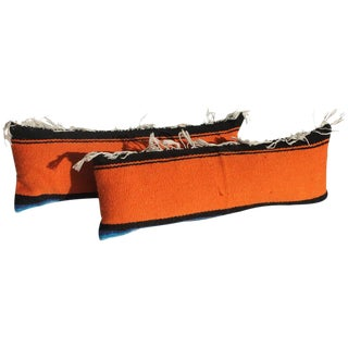 Pair of Mexican Serape Bolster Pillows