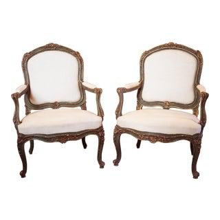 Pair of Fine 19c Rococo Armchairs