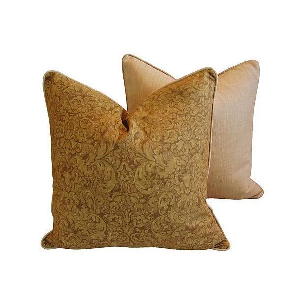 Ralph Lauren Evanston Gold Pillows - A Pair - Image 5 of 7
