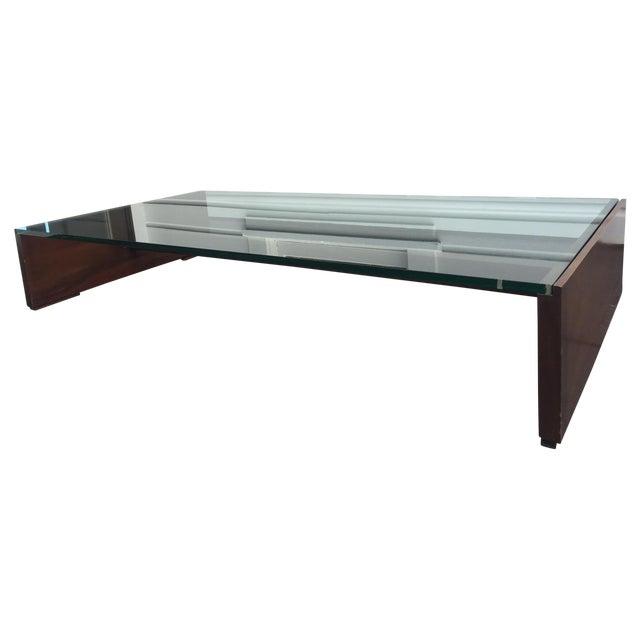 Mahogany & Glass Coffee Table - Image 1 of 6