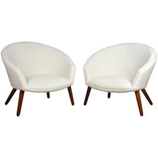 "Rare Pair of Nanna Ditzel ""Pot"" Lounge Chairs for AP Stolen, Denmark, 1953"