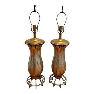Vintage Handmade Maitland Smith Table Lamps - a Pair