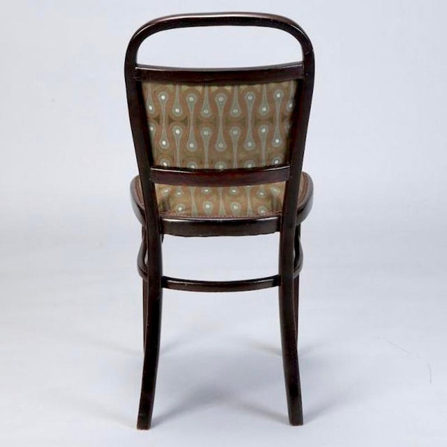 Set of 4 Otto Wagner Secessionist Walnut Dining Chairs - Image 8 of 10