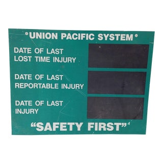 Union Pacific System Shop Sign