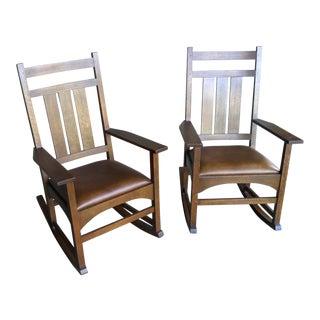 Stickley Harvey Ellis Rocking Chairs - A Pair