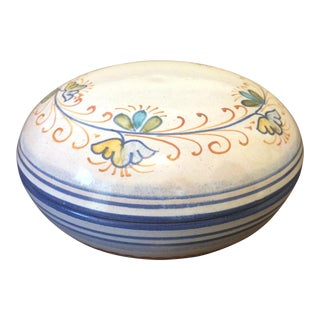 Italian Hand Painted Lidded Ceramic Bowl