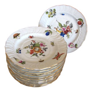 Herend Fruits & Flowers Bread & Butter - Set of 12