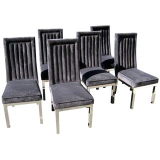 Set Of Six Dining Chairs By Charles Hollis Jones, c. 1970's